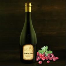 """Semi-sweet cranberry wine 0.75l """"Rankas Vīns"""""""