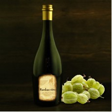 "Gooseberry semi-sweet wine 0.75l ""Rankas Vīns"""