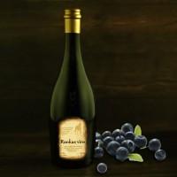 Blueberry semi-sweet wine