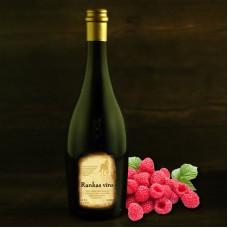 """Wild raspberry semi-sweet wine 0.75l """"Rankas Vīns"""""""